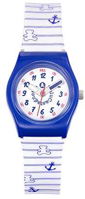 Lulu Castagnette Girl's Quartz Watch with White Dial Analogue Display and Plastic Multicolour - 38774
