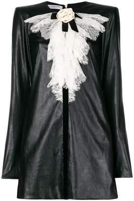 Philosophy di Lorenzo Serafini contrast ruffle neck shift dress