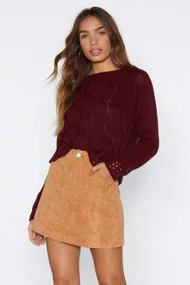 Nasty Gal Winter Love Knit Sweater