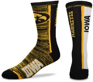 For Bare Feet Adult Iowa Hawkeyes Bar Stripe Crew Socks