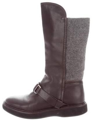 Fabiana Filippi Leather Mid-Calf Boots