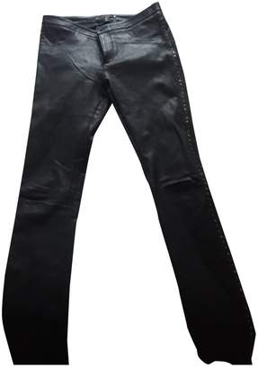 Berenice Black Leather Trousers for Women