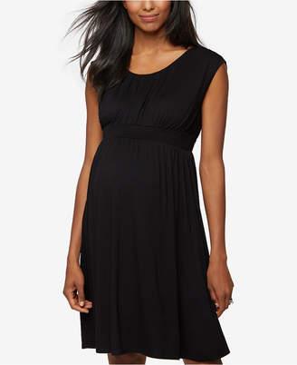 Design History Maternity Smocked Dress $118 thestylecure.com