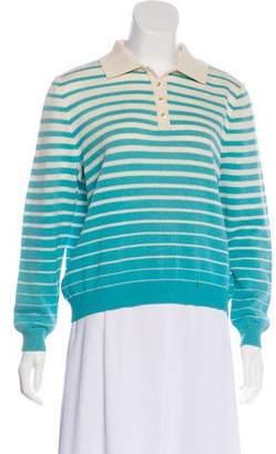 St. John Sport Striped Knit Top