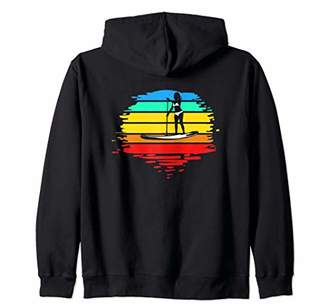 SUP Stand Up Paddle Board Gift for Women Paddler Zip Hoodie