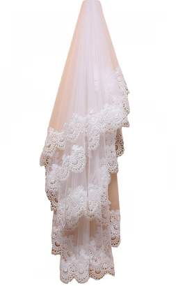 Camilla And Marc Snow Lotus the Bride Water Soluble Lace Veil Length 150 Cm