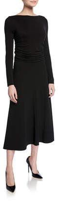 Max Mara Tirreno Long-Sleeve Jersey Midi Dress