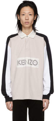 Kenzo Off-White Colorblock Logo Polo