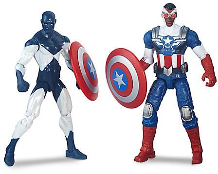 Marvel Legends Series Shield-Wielding Heroes Action Figure Set - Captain America & Vance Astro - 4'' H