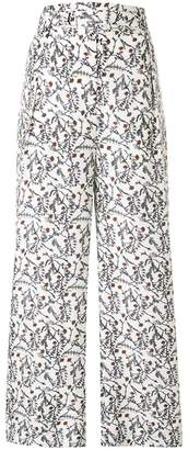 Christian Wijnants floral print flared trousers