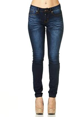 Cover Girl Women's Mid Rise Slim Fit Stretchy Skinny Jeans