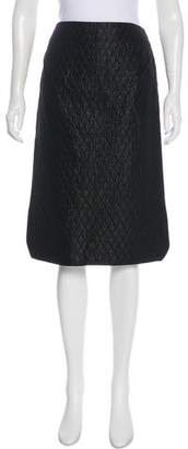 Roland Mouret Quilted Knee-Length Skirt