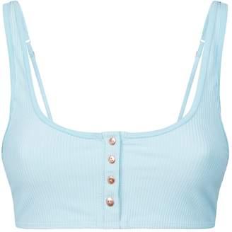 Frankie's Bikinis Frankies Bikinis Alana Button Trim Bikini Top