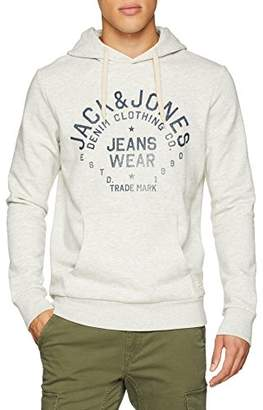 d2b9ce86e743 Jack and Jones Men s s Jjejeans Sweat Hood Noos Hoodie Black Detail  ...