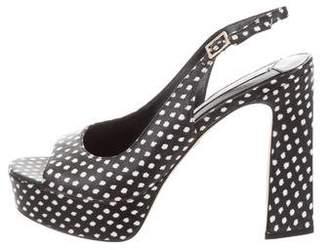 Diane von Furstenberg Polka Dot Platform Sandals