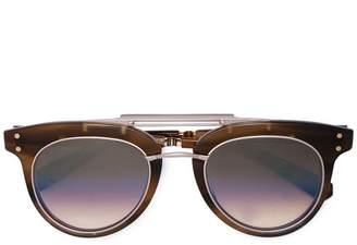 Garrett Leight chunky aviator sunglasses