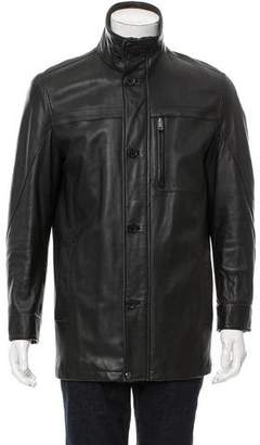 Andrew Marc Leather Puffer Jacket