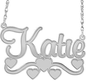 JCPenney FINE JEWELRY Personalized Sterling Silver Name Necklace with Hearts