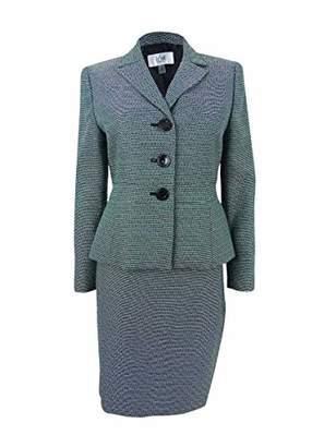 Le Suit Women's Petite Size Tweed 3 Button Skirt