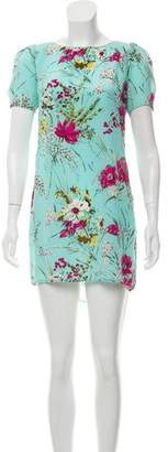 ABS by Allen Schwartz Short Sleeve Print Mini Dress