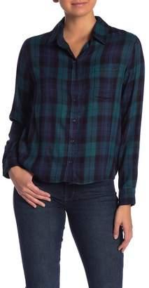 Kensie Plaid Long Sleeve Top