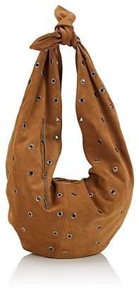 Saint Laurent Women's Sac Bandana Suede Hobo Bag