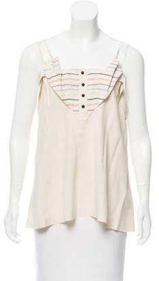 Mayle Embroidered Silk Top
