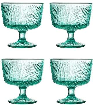 Jay Import Green Bistro Croc Pedestal Bowl - Set of 4