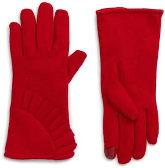 Nordstrom Ruffle Tech Wool Blend Gloves