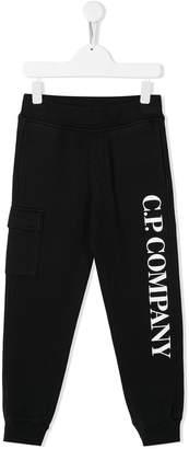 C.P. Company Kids logo print track pants
