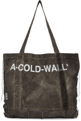 A-Cold-Wall* Grey Canvas Tote