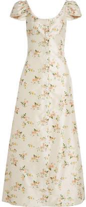 Brock Collection Printed Silk Dress