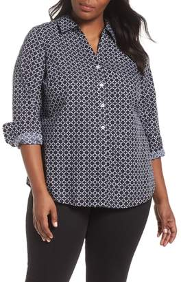 Foxcroft Mary Graphic Dot Shirt