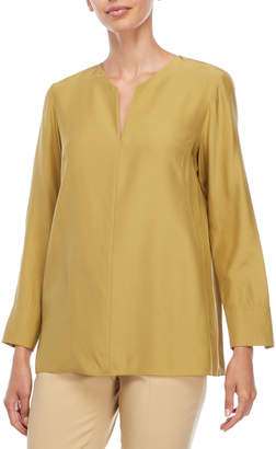 Lafayette 148 New York York Long Sleeve Silk Blouse