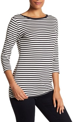 SUSINA 3/4 Length Sleeve Striped Boatneck Shirt $19.97 thestylecure.com