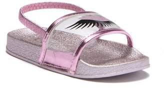 Nicole Miller Translucent Slingback Slide Sandal (Toddler)