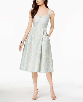 Jill Stuart Jacquard Fit & Flare Midi Dress