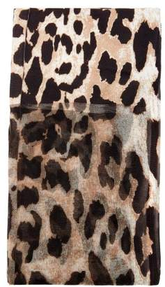 Paco Rabanne Leopard Print Tights - Womens - Leopard