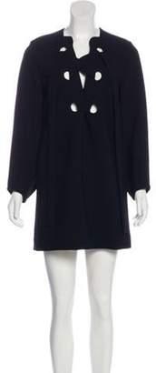 Derek Lam Lace-Up Mini Dress Black Lace-Up Mini Dress