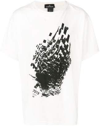 Stone Island Shadow Project contrast print T-shirt