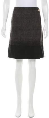 Salvatore Ferragamo Houndstooth Wrap Skirt