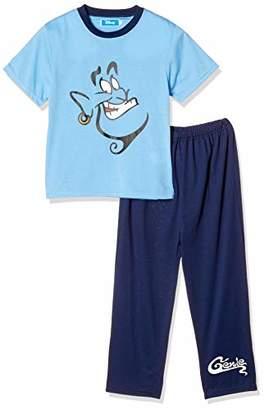 Disney (ディズニー) - [ディズニー] ジーニー天竺パジャマ半袖長ズボン 371104403 ブルー 日本 120 (日本サイズ120 相当)