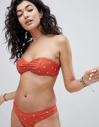 RVCA Crossed Bandeau Bikini Top