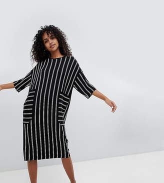 Monki Midi Stripe T-Shirt Dress