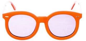 Karen Walker Round Tinted Sunglasses