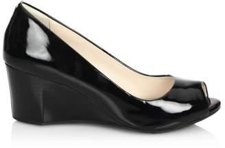 dd857adcd0 Cole Haan Sadie Patent Leather Peep Toe Wedge Pumps
