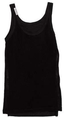 Dolce & Gabbana Mesh Sleeveless T-Shirt