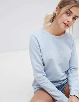 JDY Tori Stolen Kisses Embroidered Sweatshirt