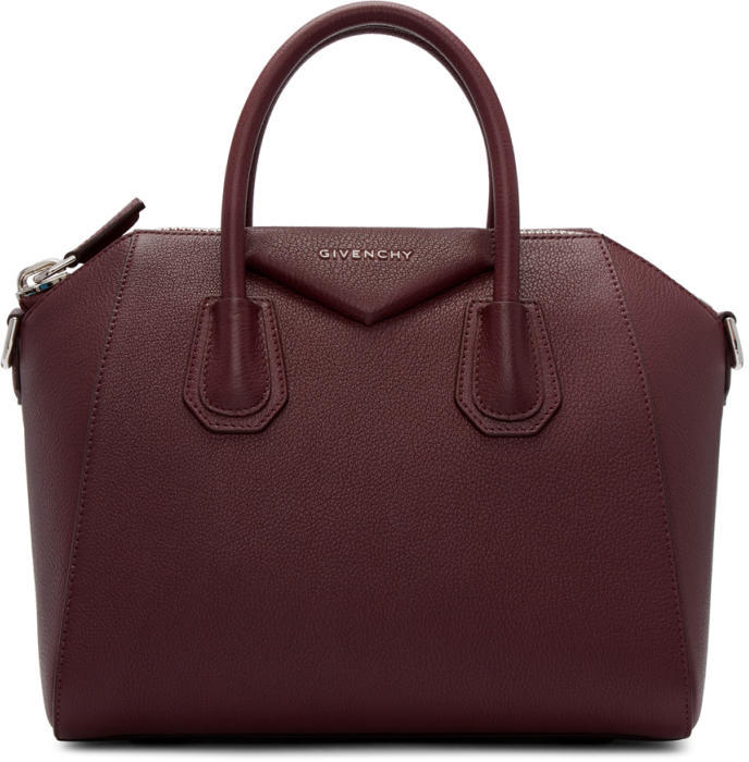 Givenchy Burgundy Small Antigona Bag