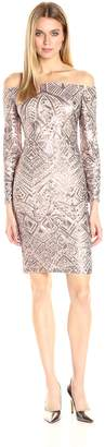 BCBGMAXAZRIA Azria Women's Eunice Knit Evening Dress